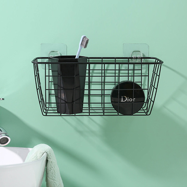 Creative Bathroom Easy Installation Rack - Black