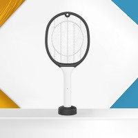 Rechargeable Creative Electric Mosquito Killer Racket - Black And White