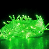 String Transparent Plastic Decorative Lights - Green