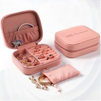 Zipper Closure Multi Purpose Jewellery Storage -  Light Pink