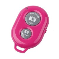 Wireless Smart Bluetooth Camera Controller Remote - Hot Pink