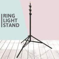 Wide Base High Quality Ring Light Holder Stand - Black