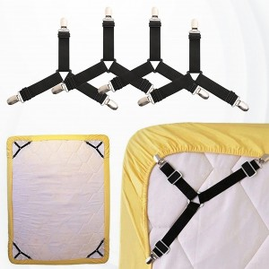 Four Pieces Non Slip Easy Bed Sheet Fixer Fasteners