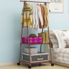 Portable Creative Bedroom Clothing Hanger Rack - Brown