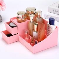Makeup Cosmetic Organizer Case Holder Storage Box - Pink