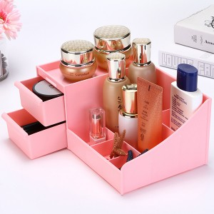 Makeup Cosmetic Organizer Case Holder Storage Box - Pink
