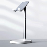 Stainless Steel Plastic Base Mobile And Tablet Holder - Silver