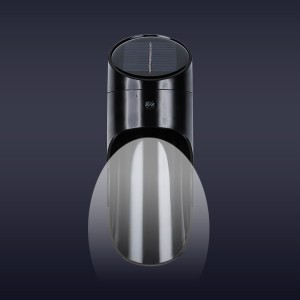 Outdoor Easy Installation White Capsule Lamp - Black