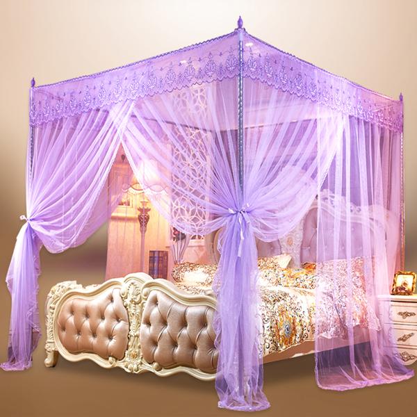 Luxury Anti Mosquito Night Sleep Bed Net - Purple