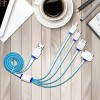 Four In One Silicon Coated Quality Fast Charging Cable