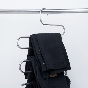 Three Layer Space Saver Quality Hangers - Silver