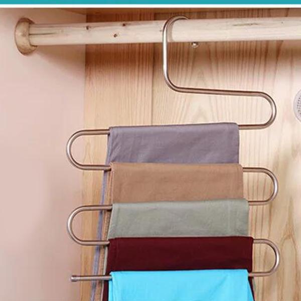 Multi-Layer Smart Stainless Steel Wardrobe Hanger