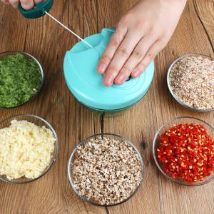 Transparent Creative Manual Cutting Bowl - Green