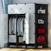 Eight Partition Storage Wardrobe Showcased Shoe Rack