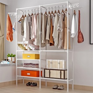 Folding Rail Easy Fixable For Clothes Storage - White