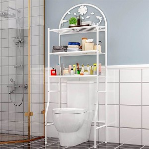 Multipurpose Smart Bathroom Metal Rack - White