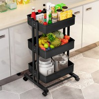 Three Storey Movable Storage Rack Trolley