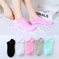 Five Pieces Light Color Short Socks Set - Multicolor