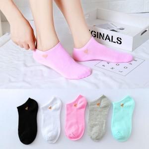 Five Pieces Light Color Short Socks Set - Multicolor