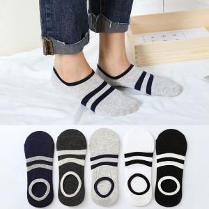 Striped Casual Solid Color Toe Cover Socks