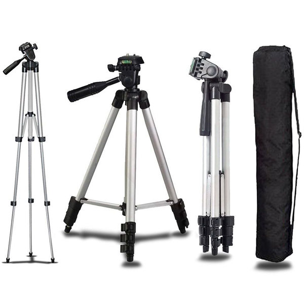 Multipurpose Quality Mobile And DSLR Stand - White