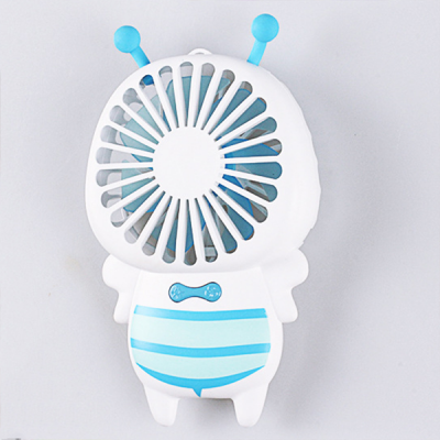 Portable Bee Shape USB Handy Fan - Blue