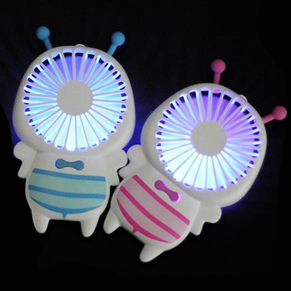 Portable Bee Shape USB Handy Fan - Pink