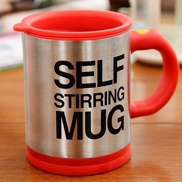 Multipurpose Self Stirring Automatic Coffee Mug - Red