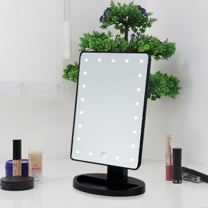 Makeup Mirror With LED - Black