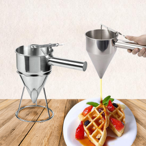 Stainless Steel Batter Dispenser With Stand