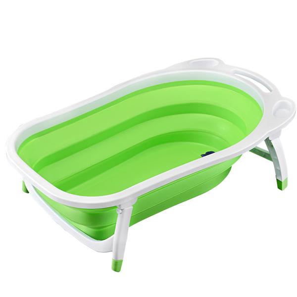 Foldable Fancy Baby Bath Tub - Green