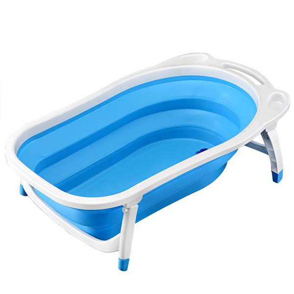 Foldable Fancy Baby Bath Tub - Blue