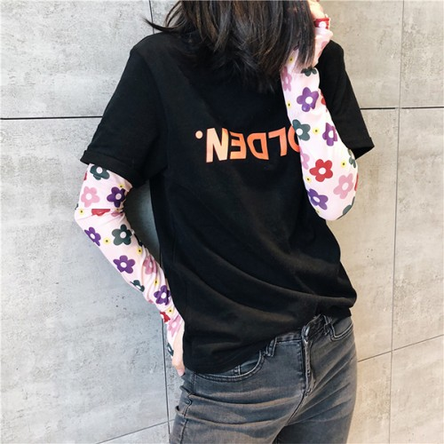 Printed Floral Thin Fabric Sun Protective Sleeves