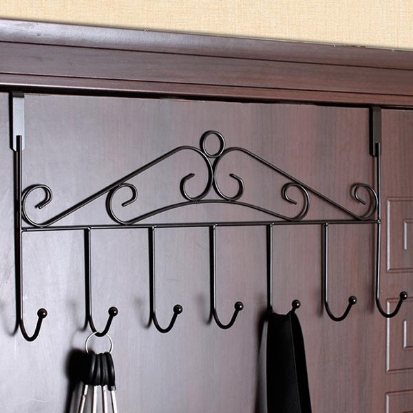 Creative Easy Door Hook Clothes Hanger - Black