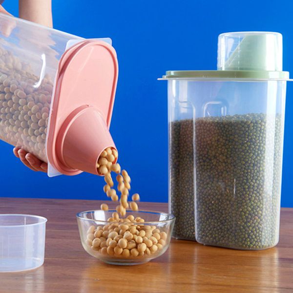 Sealed Food Storage Jar With Measurement Cap