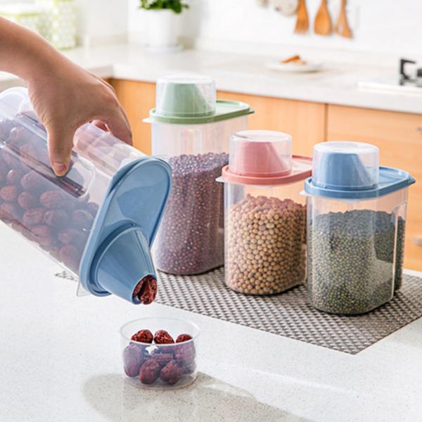 Sealed Food Storage Jar With Measurement Cap