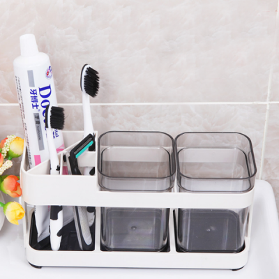 Three Side Bathroom Plastic Holder Rack