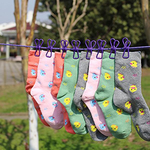 Balcony Outdoor Laundry Drying Hanger Rope - Purple