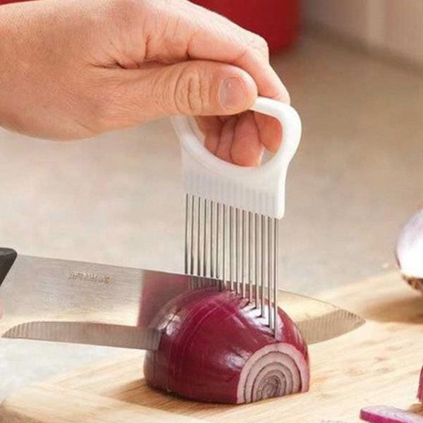 Stainless Steel Onion Slicer Holder Tool