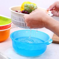Quality Plastic Food Washing Bowl With Sieve