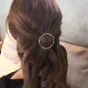 Comfortable Gold Plated Hair Clip - Circle