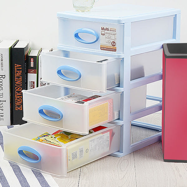 Four Layered Multi Purpose Mini Storage Drawer Rack