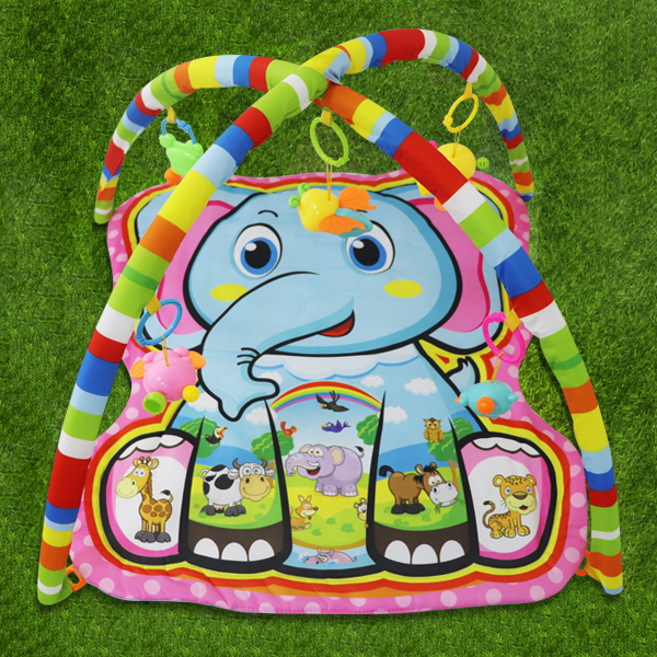 Elephant Prints Colorful Baby Playing Floor Mat