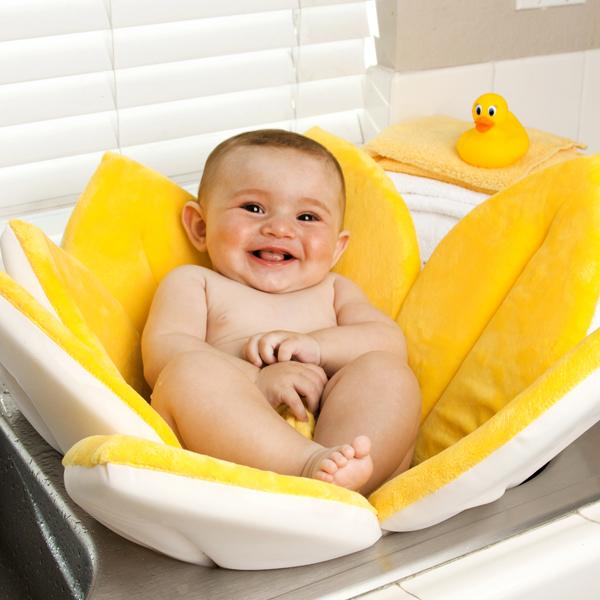 Bloomy Baby Bath Flower Sink Mat - Yellow