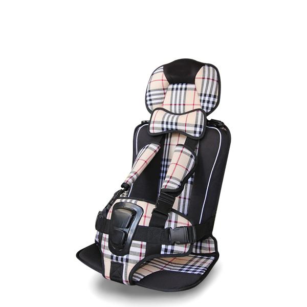 Checks Print Portable Baby Car Seat