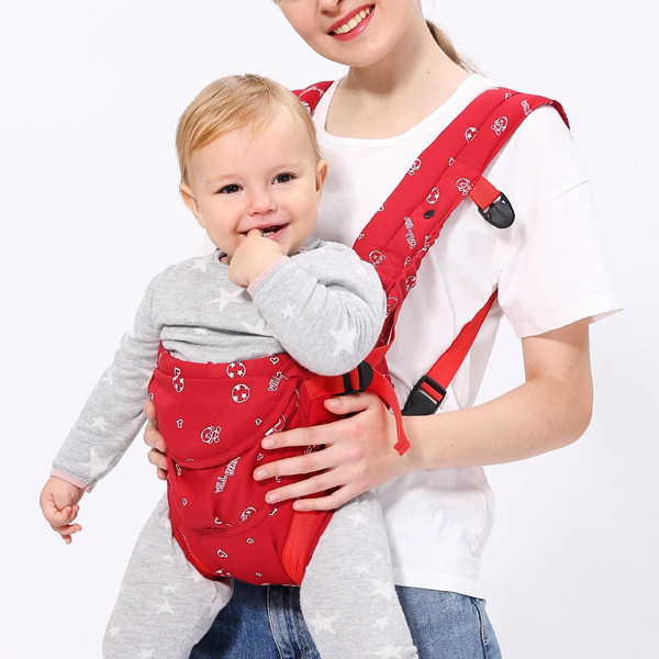 Strong Hold Printed Baby Carrier - Red