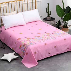 Floral Prints Quality Bed Cover Sheet - Pink