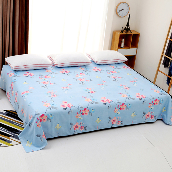 King Size Wide Space Bed Cover Sheet - Rose Prints
