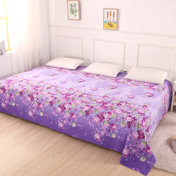 King Size Wide Space Bed Cover Sheet - Floral Prints