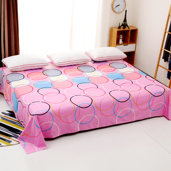 King Size Wide Space Bed Cover Sheet - Ring Prints